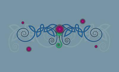 Celtic Thistle Art Print