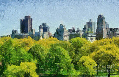 Central Park Painting - Central Park In New York by George Atsametakis