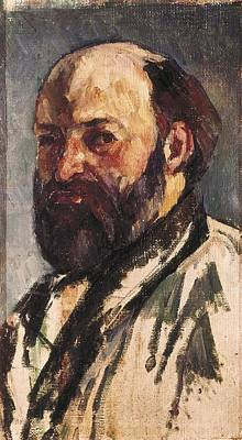 Self-portrait Photograph - Cezanne, Paul 1839-1906. Self-portrait by Everett