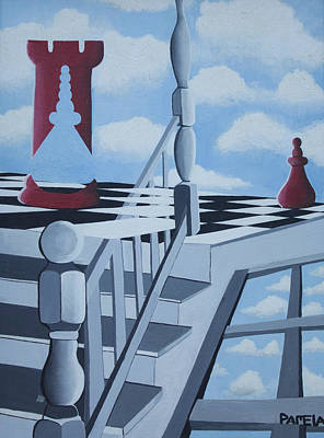 Chess Pieces Painting - Chance by Pamela  Perran-Gosnell