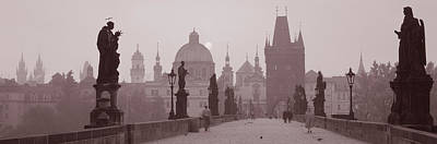 Statue Bridge Photograph - Charles Bridge Prague Czech Republic by Panoramic Images