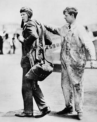Lindbergh Photograph - Charles Lindbergh by Retro Images Archive