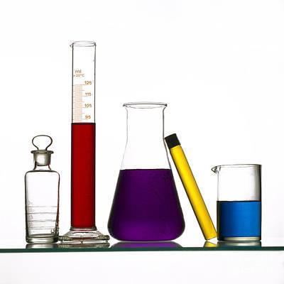 Test Tubes Photograph - Chemistry by Bernard Jaubert