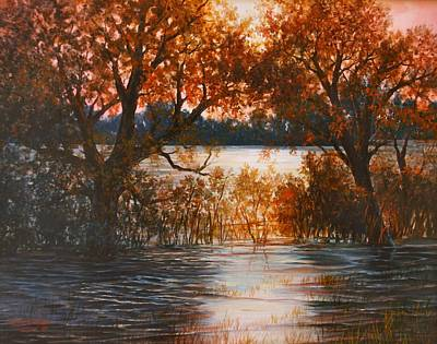 Painting - Cheney Sunset by Lynne Wright
