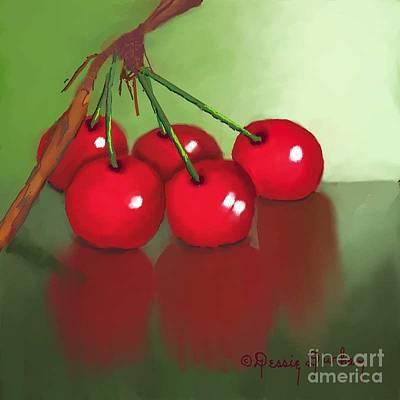 Wrap Digital Art - Cherries by Dessie Durham