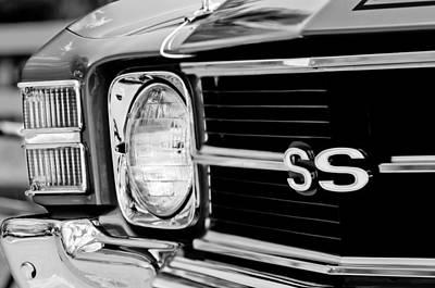 Photograph - Chevrolet Chevelle Ss Grille Emblem by Jill Reger