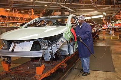 Chevrolet Volt Assembly Line Art Print by Jim West