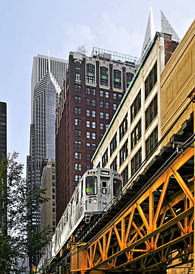 Urban Scenes Photograph - Chicago Loop 'l' by Christine Till