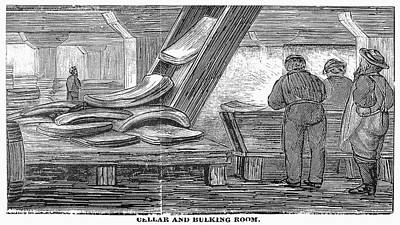 Conveyor Belt Painting - Chicago Meatpacking, 1878 by Granger