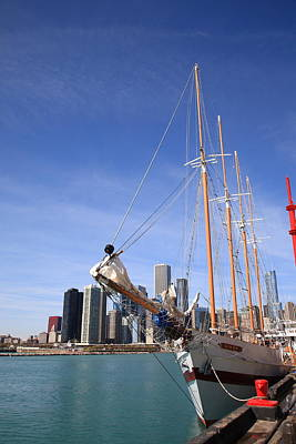 Photograph - Chicago Skyline And Tall Ship by Frank Romeo