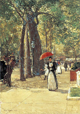 Childe Photograph - Fifth Avenue At Washington Square by Childe Hassam