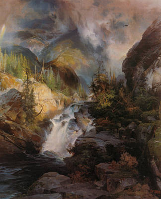 Children Of The Mountain Art Print by Thomas Moran