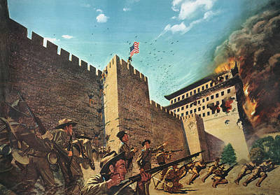1900 Architecture Painting - China Boxer Rebellion by Granger