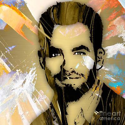 Chris Pine Collection Art Print