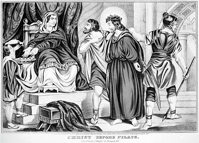 Pontius Pilate Painting - Christ Before Pilate by Granger