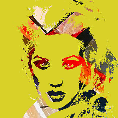 Christina Aguilera Collection Print by Marvin Blaine