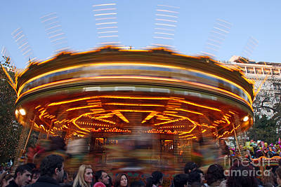 Photograph - Christmas Carousel by George Atsametakis