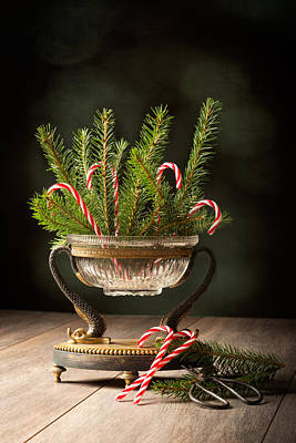 Pine Needles Photograph - Christmas Decoration by Amanda Elwell