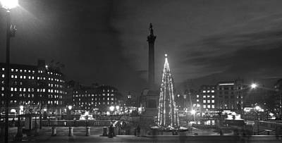 Photograph - Christmas  Tree Trafalgar Square by David French