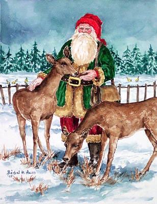 Christmas Woodland Series Art Print