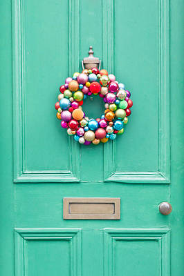 Holiday Decoration Photograph - Christmas Wreath by Tom Gowanlock