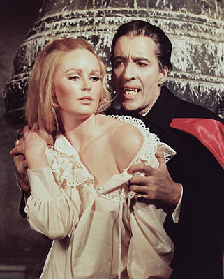Photograph - Christopher Lee In Dracula Has Risen From The Grave  by Silver Screen