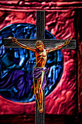 Christs Crucifixion  Art Print