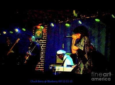 Photograph - Chuck Berry At Blueberry Hill 12-11-13 by Kelly Awad