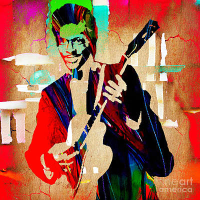 Guitarist Mixed Media - Chuck Berry Collection by Marvin Blaine