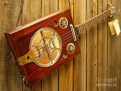 Musical Instrument Mixed Media - Cigar Box Guitar  by Marvin Blaine