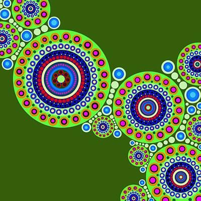 Colorful Art Digital Art - Circle Motif 119 by John F Metcalf