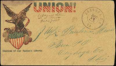 American Eagle Painting - Civil War Letter, C1862 by Granger