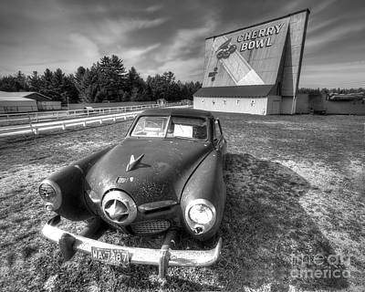 B-movie Photograph - Classic Car At The Drive In by Twenty Two North Photography