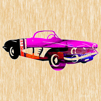 Chevrolet Mixed Media - Classic Corvette by Marvin Blaine