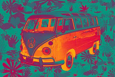 Photograph - Classic Vw 21 Window Mini Bus by Keith Webber Jr