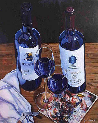 Stemware Painting - 3 Classics by James Scrivano