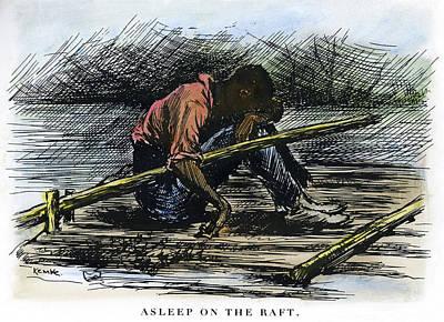 African-american Drawing - Clemens Huck Finn, 1885 by Granger