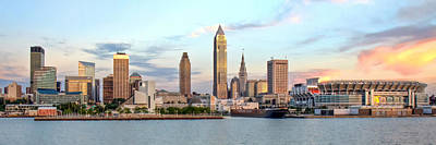 Print featuring the photograph Cleveland Skyline by Brent Durken