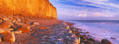 Sites Photograph - Cliff On The Beach, Burton Bradstock by Panoramic Images