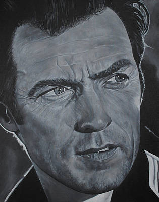 Clint Eastwood Print by David Dunne