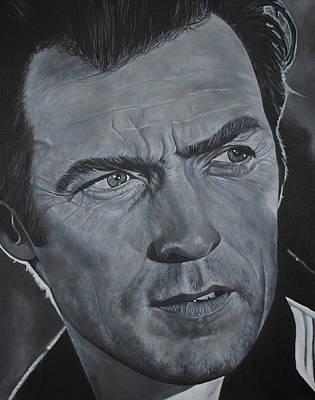 Clint Eastwood Art Print by David Dunne
