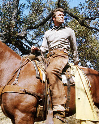 Photograph - Clint Eastwood In Rawhide  by Silver Screen