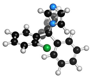 Clotrimazole Antifungal Drug Molecule Art Print