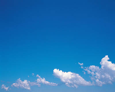 Clouds In Blue Sky Art Print by Panoramic Images
