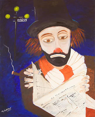 Wall Street Journal Painting - Clown  by Margaret Pappas