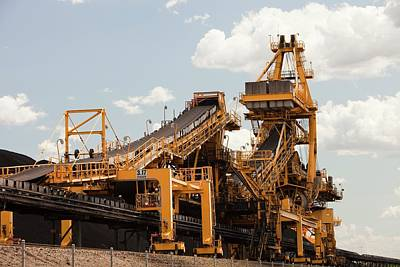 Machinery Photograph - Coal Moving Machinery by Ashley Cooper