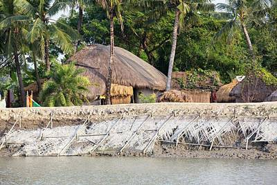 Ganges Photograph - Coastal Flood Defences In The Sunderbans by Ashley Cooper