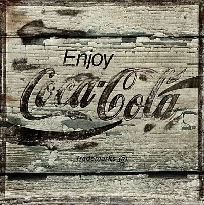 Photograph - Coca Cola Grunge Sign by John Stephens