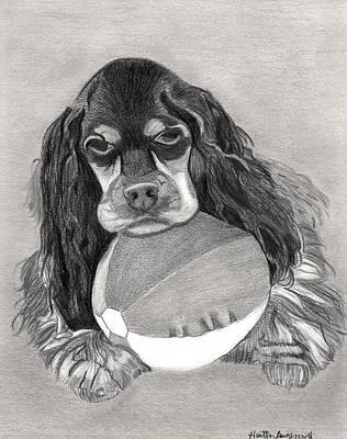 Cocker Spaniel Drawing - Cocker Spaniel Dog Portrait by Olde Time  Mercantile