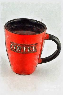 Chalice Painting - Coffee by George Atsametakis